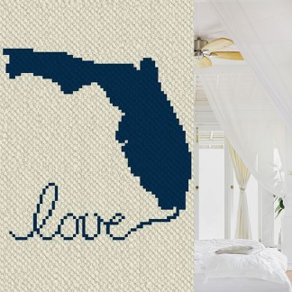 Florida Love C2C Croner to Corner Crochet Pattern