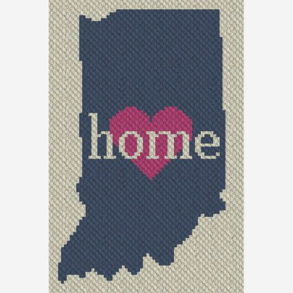 Indiana Home C2C Afghan Blanket Corner to Corner Crochet Pattern