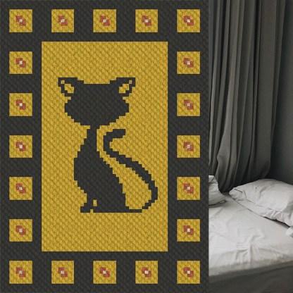 Blackjack C2C Afghan Crochet Pattern Corner to Corner Crochet Blanket