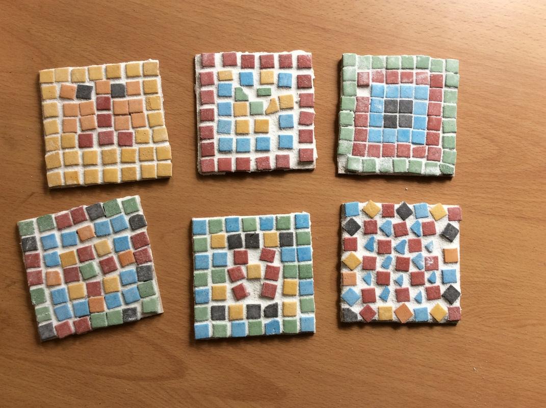 roman mosaic tiles blue gate fields