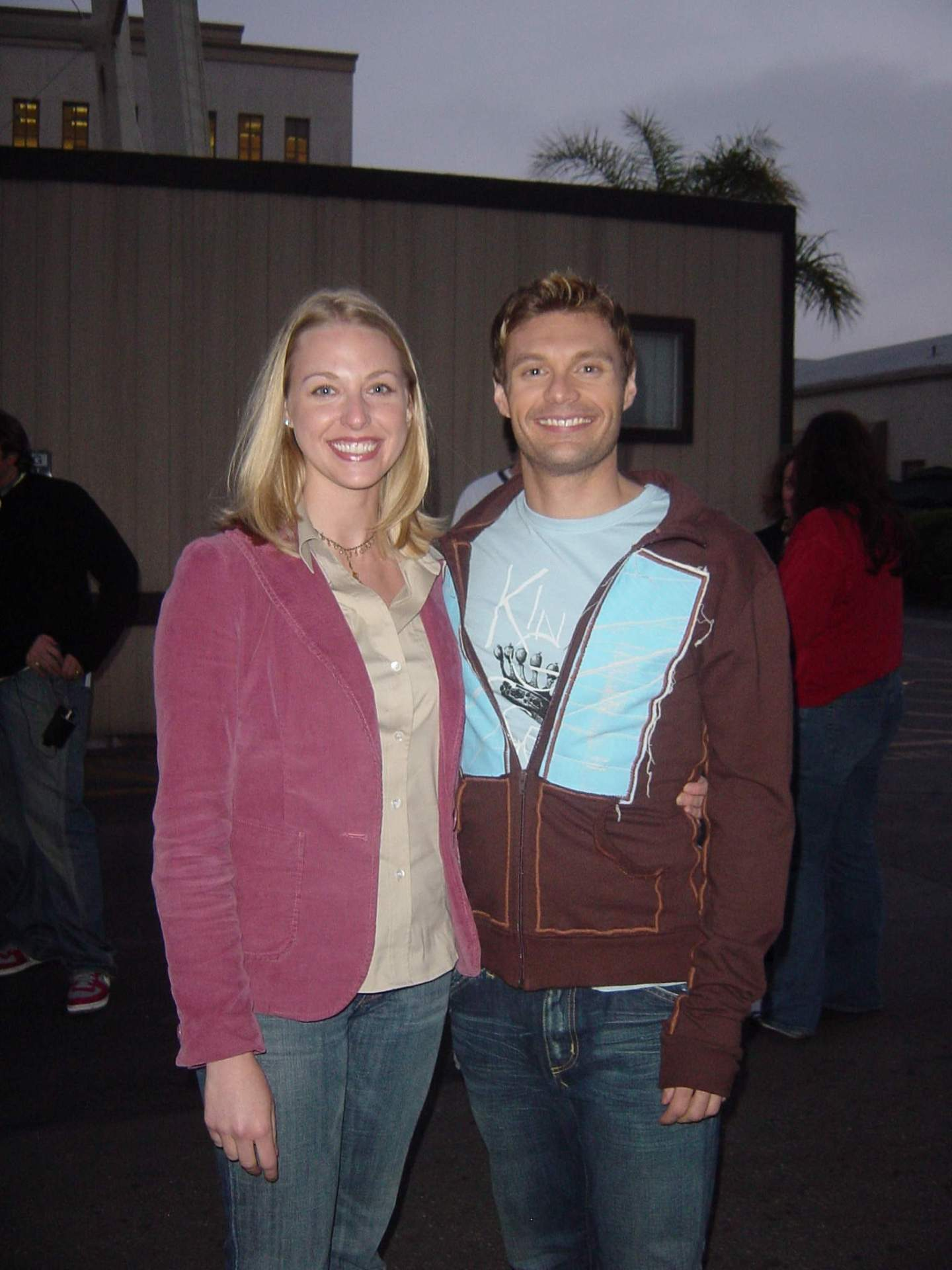 bluegraygal and Ryan Seacrest for American Idol TV Commercial.