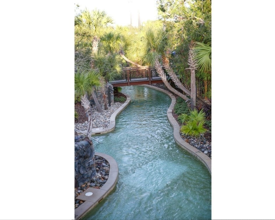 The lazy river at the Four Seasons Orlando resort