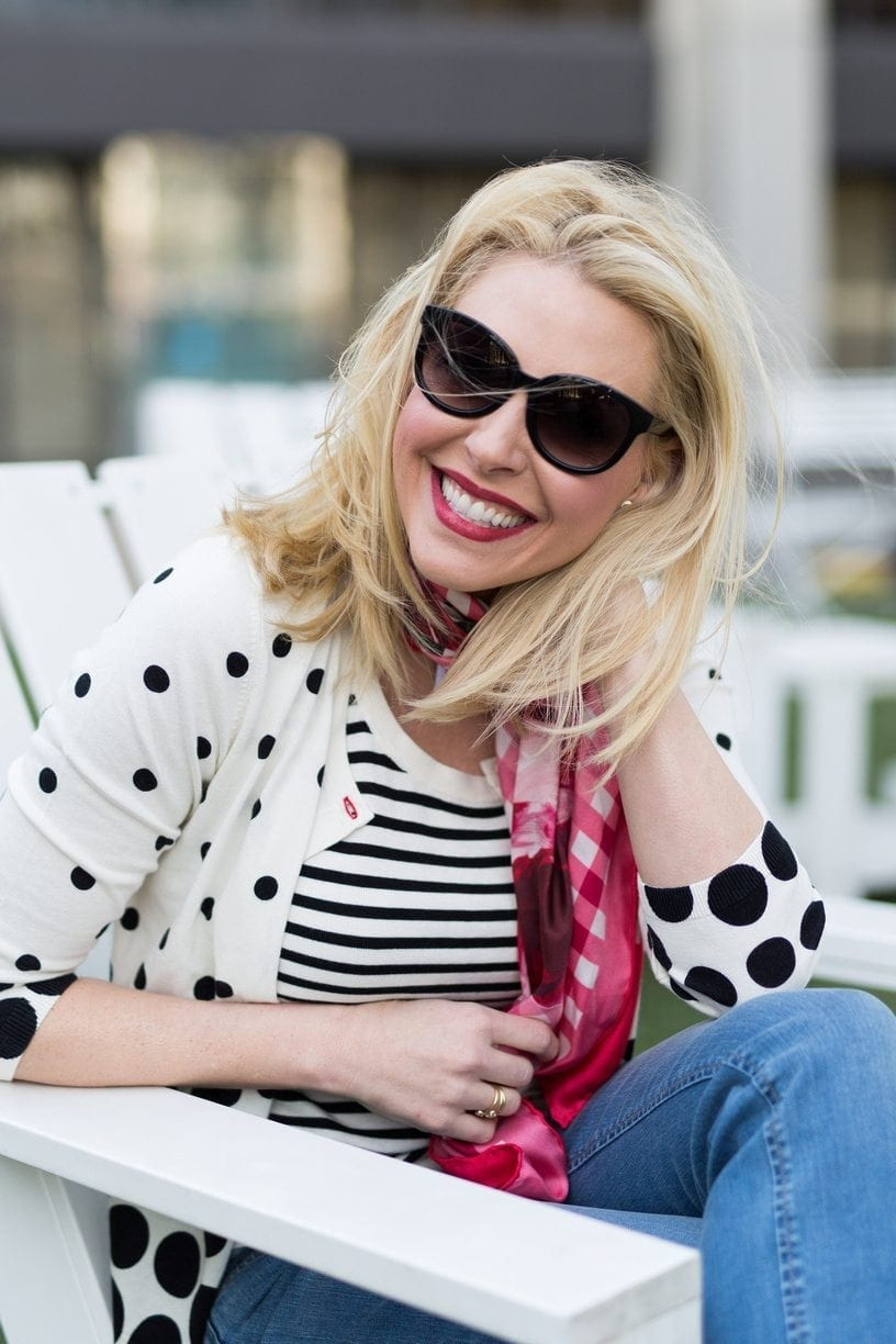 How to wear polka dots.