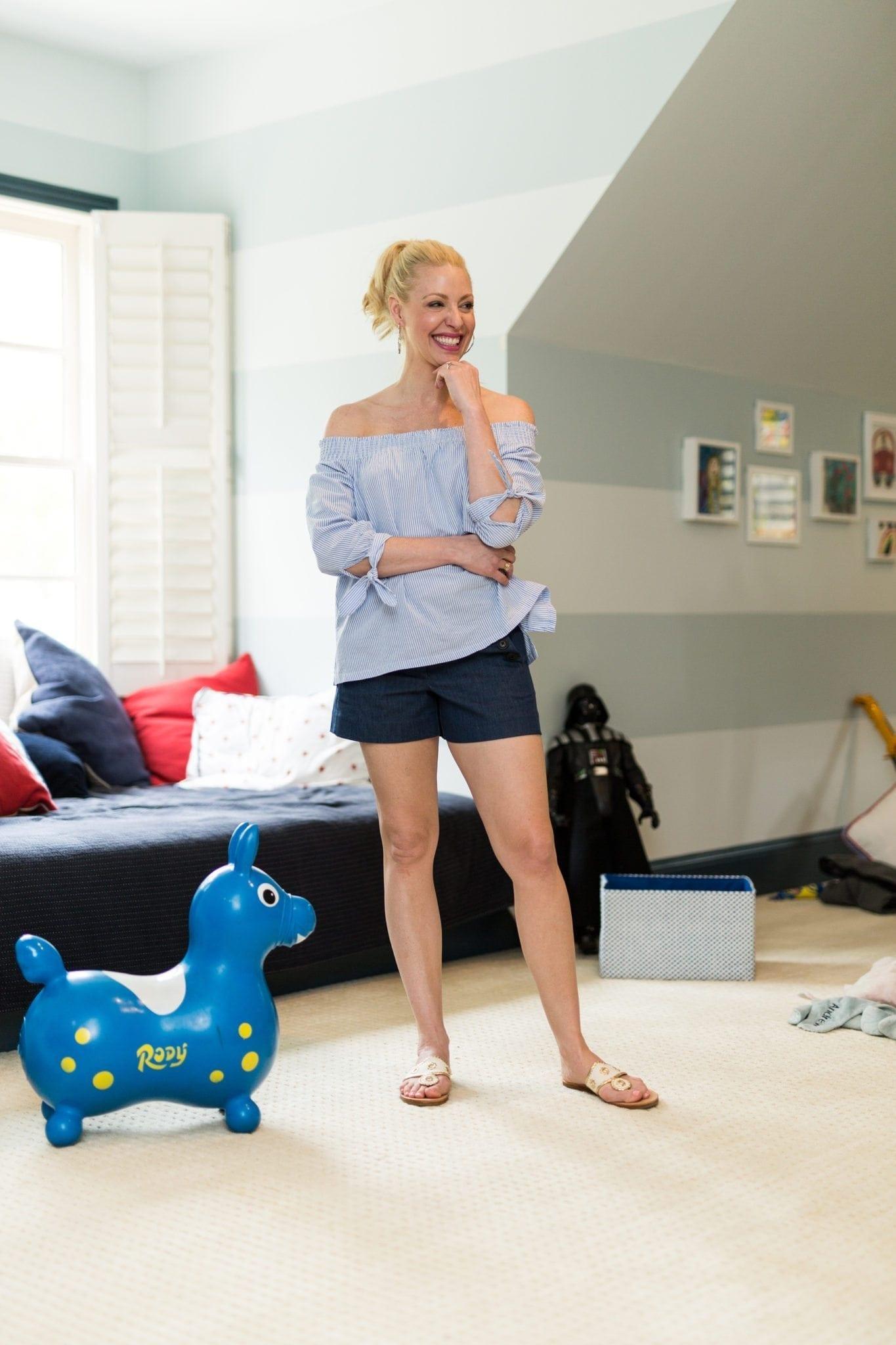 Shorts for women. Blue shorts for women.