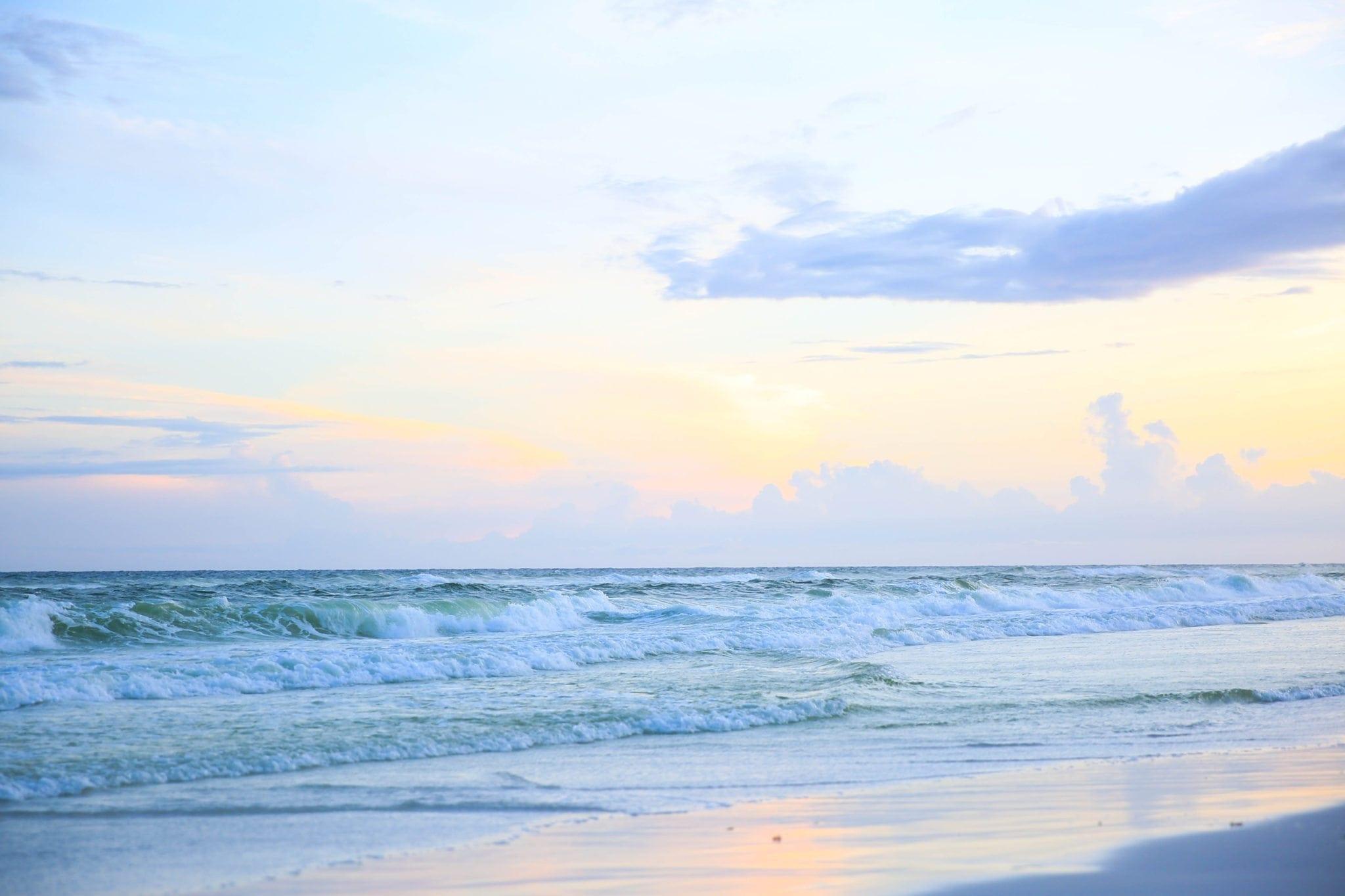 Beach sunset in Destin.