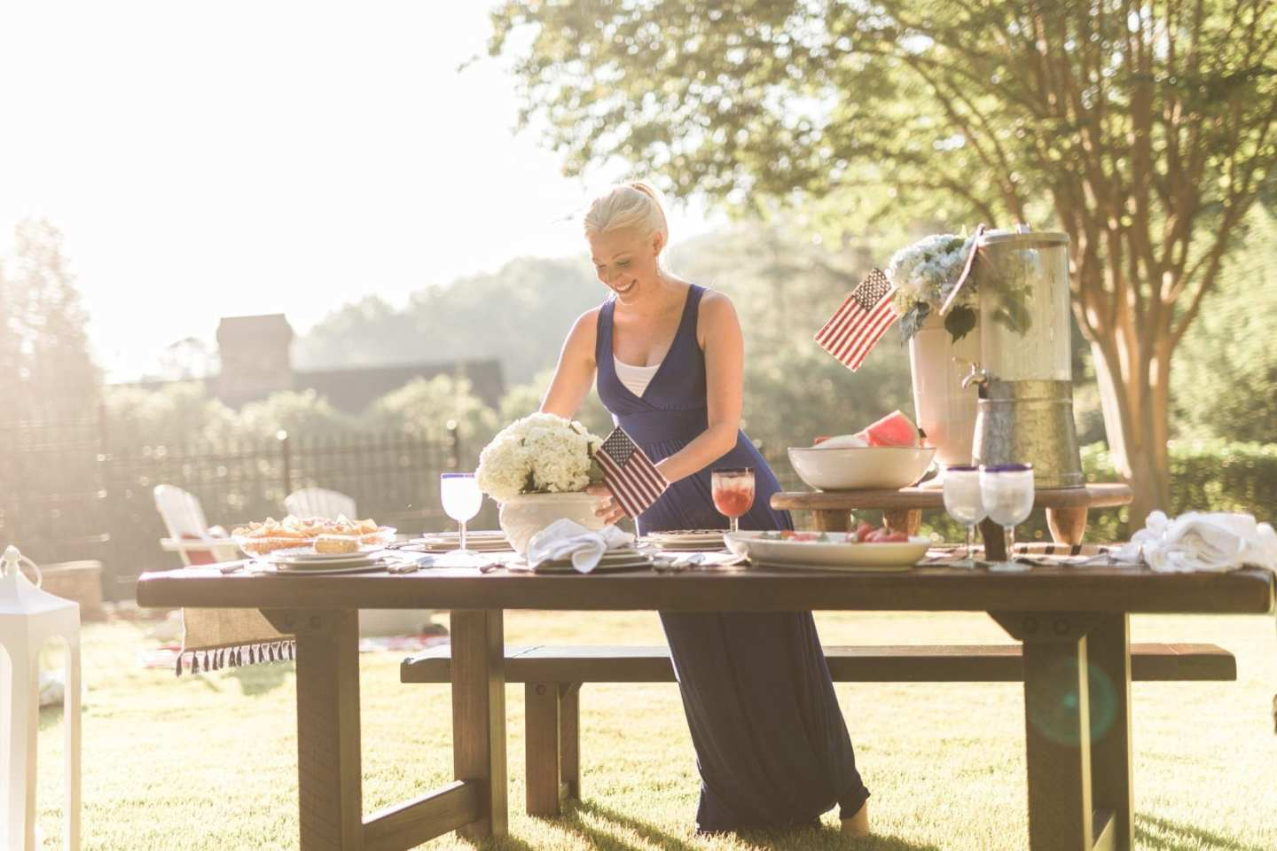 July 4th decor + table centerpieces for party