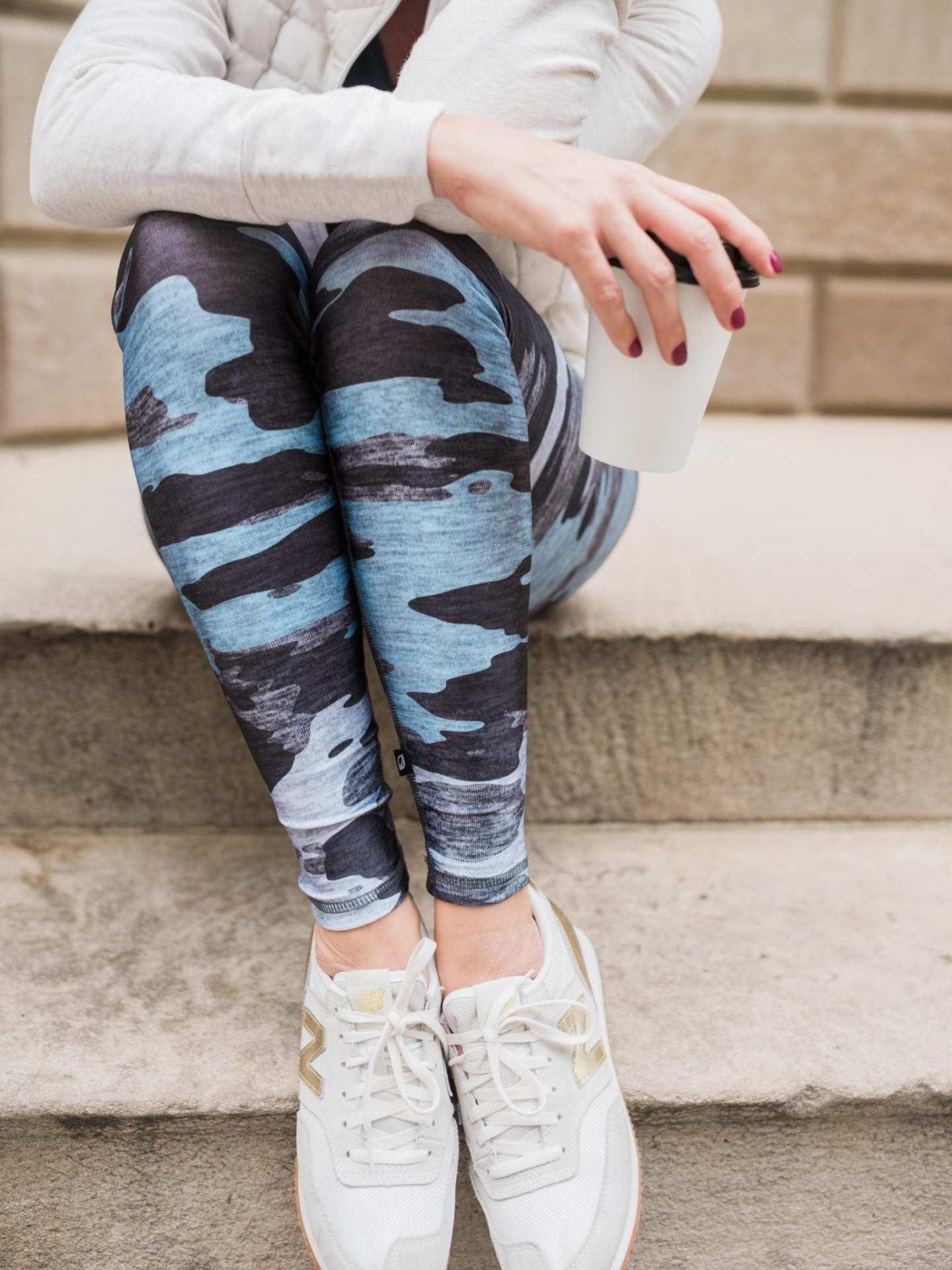 Camo Leggings by Terez. Fun print leggings for everyday use.