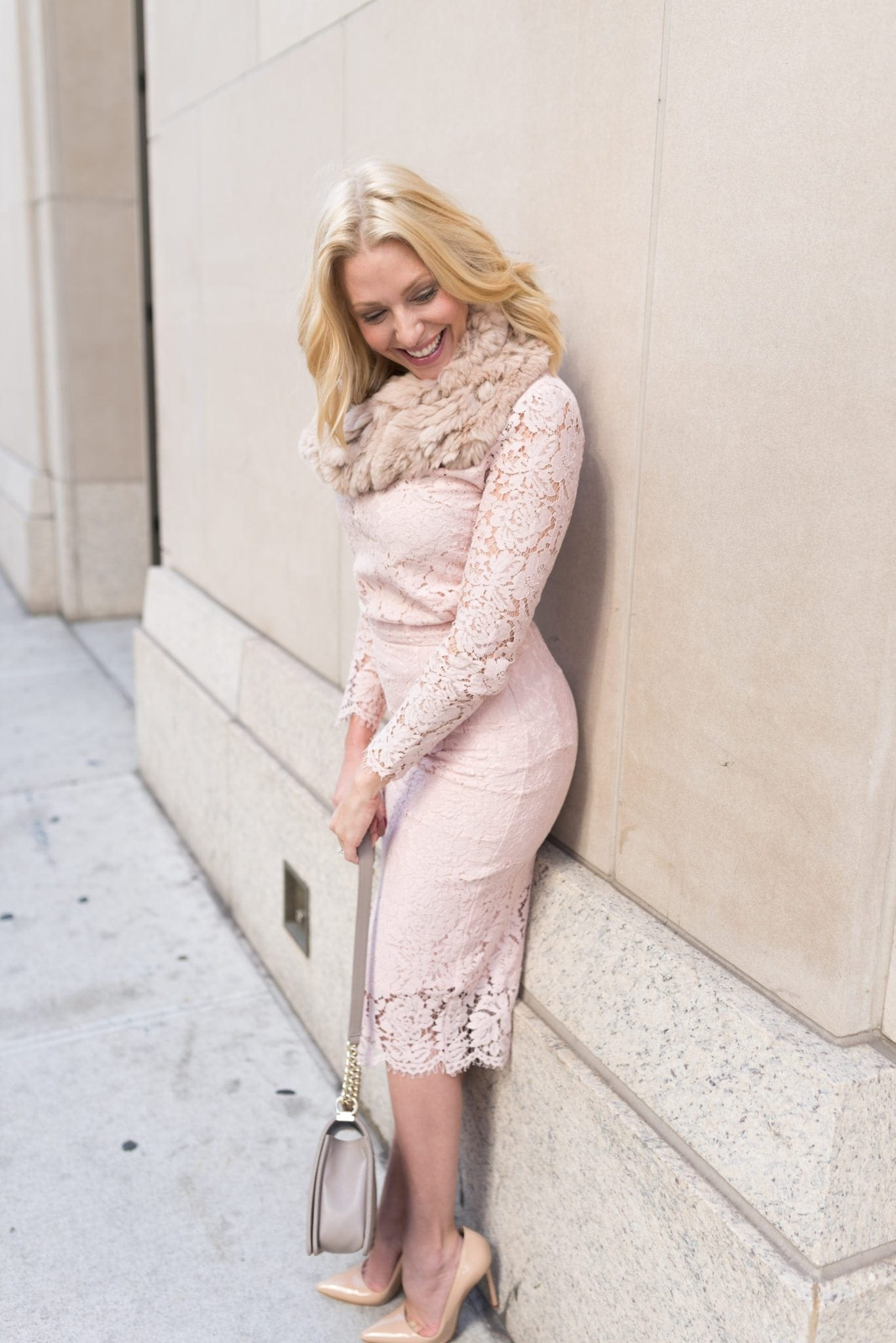 Pink Peonies Rachel Parcells new pink lace pencil skirt.