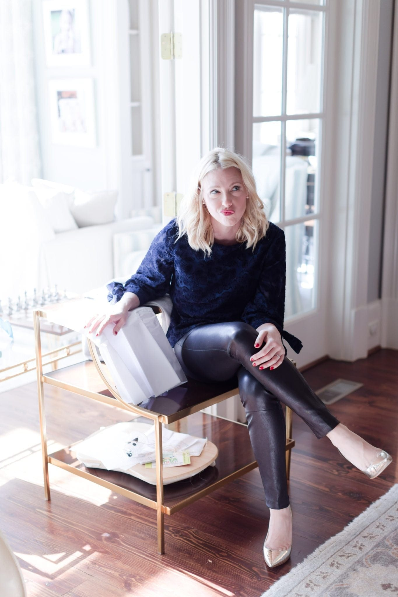 Do you find lifestyle bloggers funny? Me too. Me in leather pants, heals.