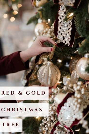 Red and Gold Christmas Tree Ideas on Pinterest