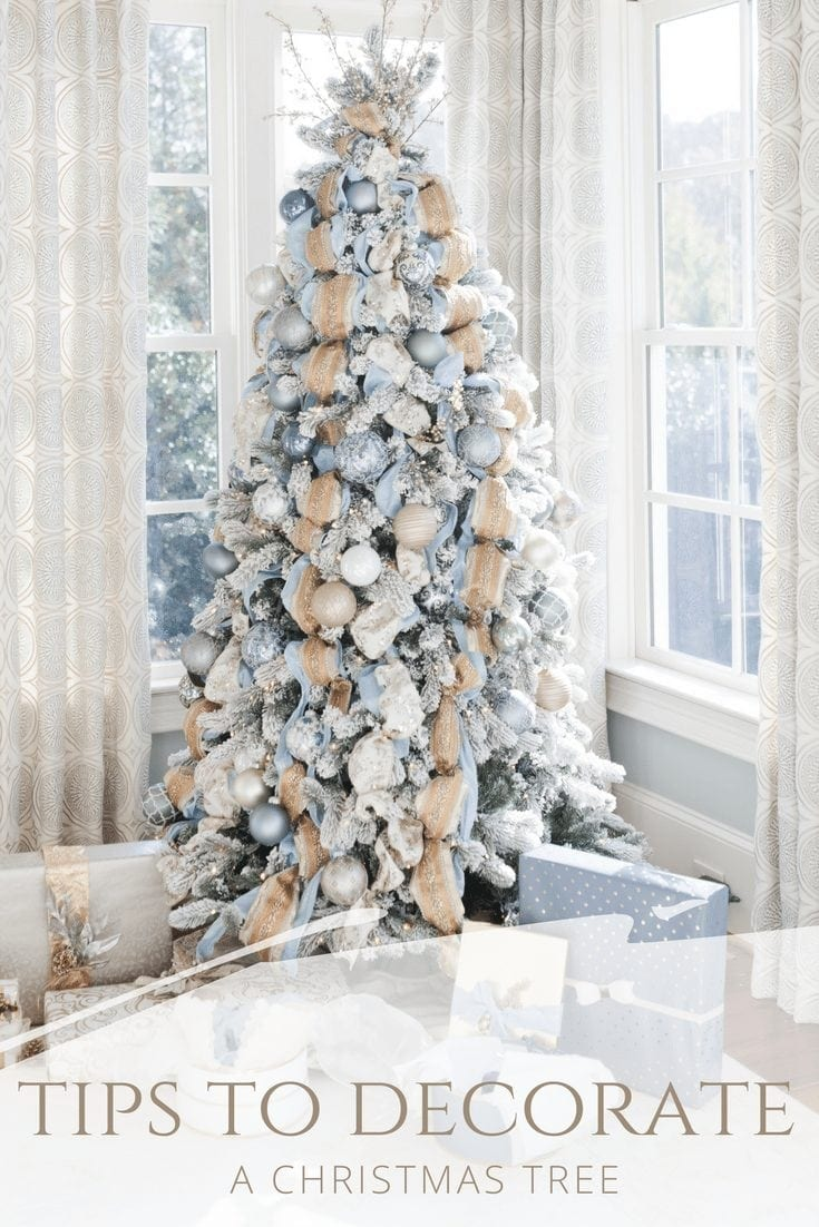 Tips to decorating a Christmas tree on Pinterest.
