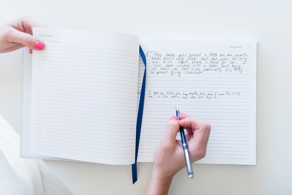 Easy ways for kids to write down memories. Fast and pretty journal.