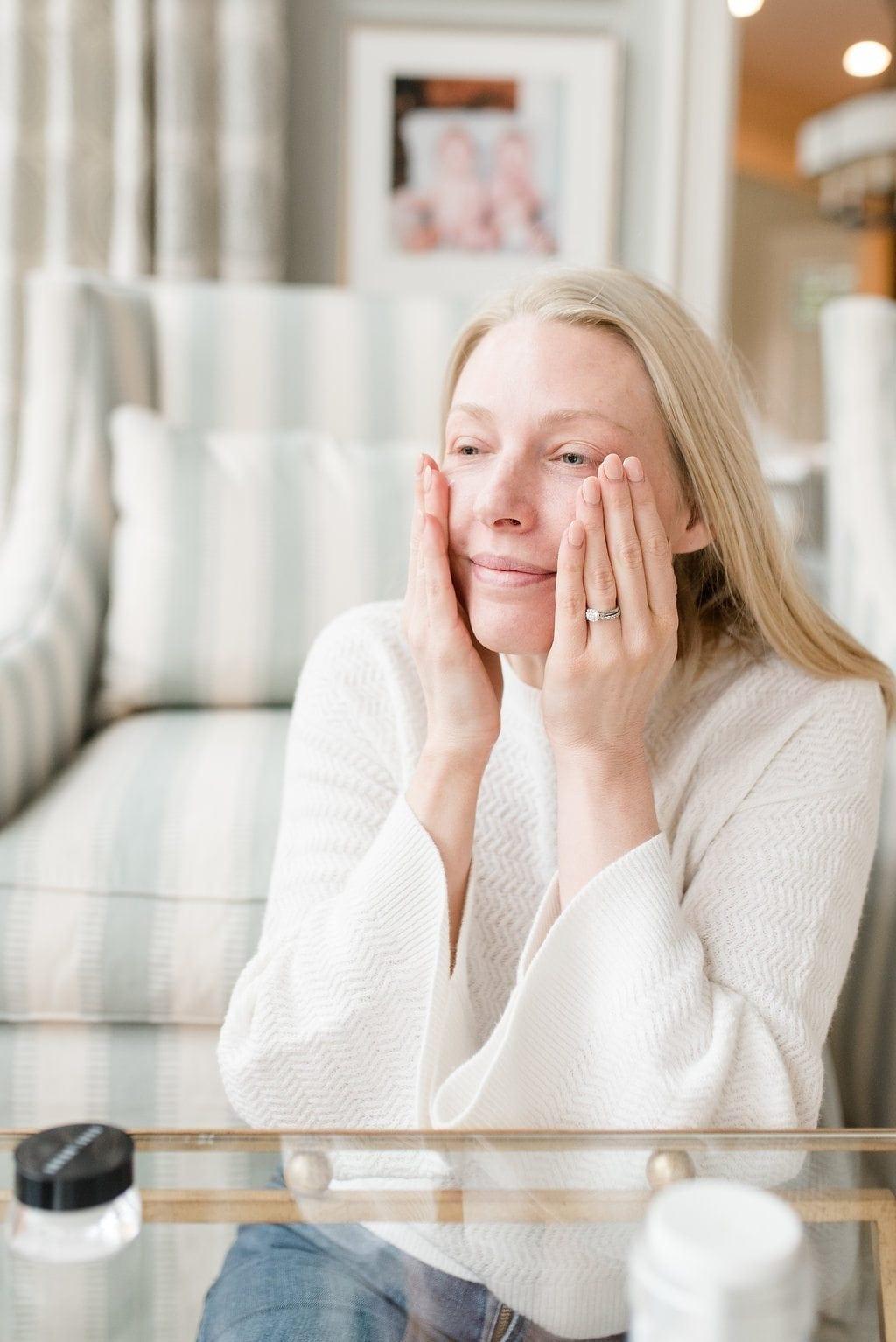 Taking care of mature skin. Skincare for fair skinned women.