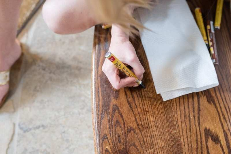 MinWax paint markers. How to protect your furniture from scratches.