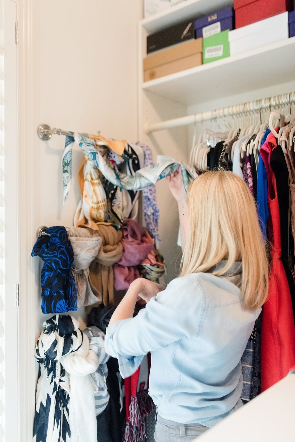 How color coding clothes will help your closet look cleaner.