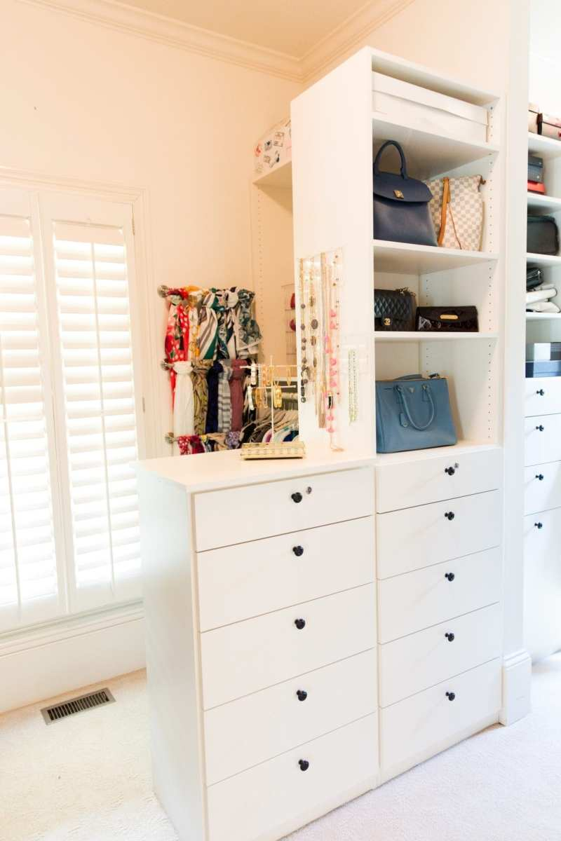 Closet storage ideas and closet organization tips.