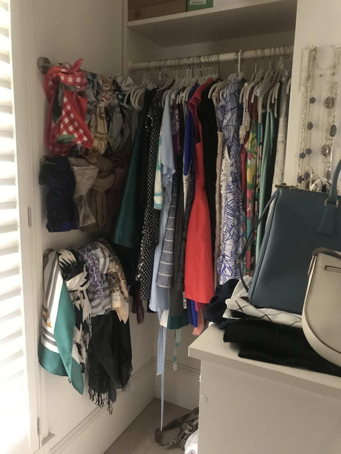 Organizing closet tips.