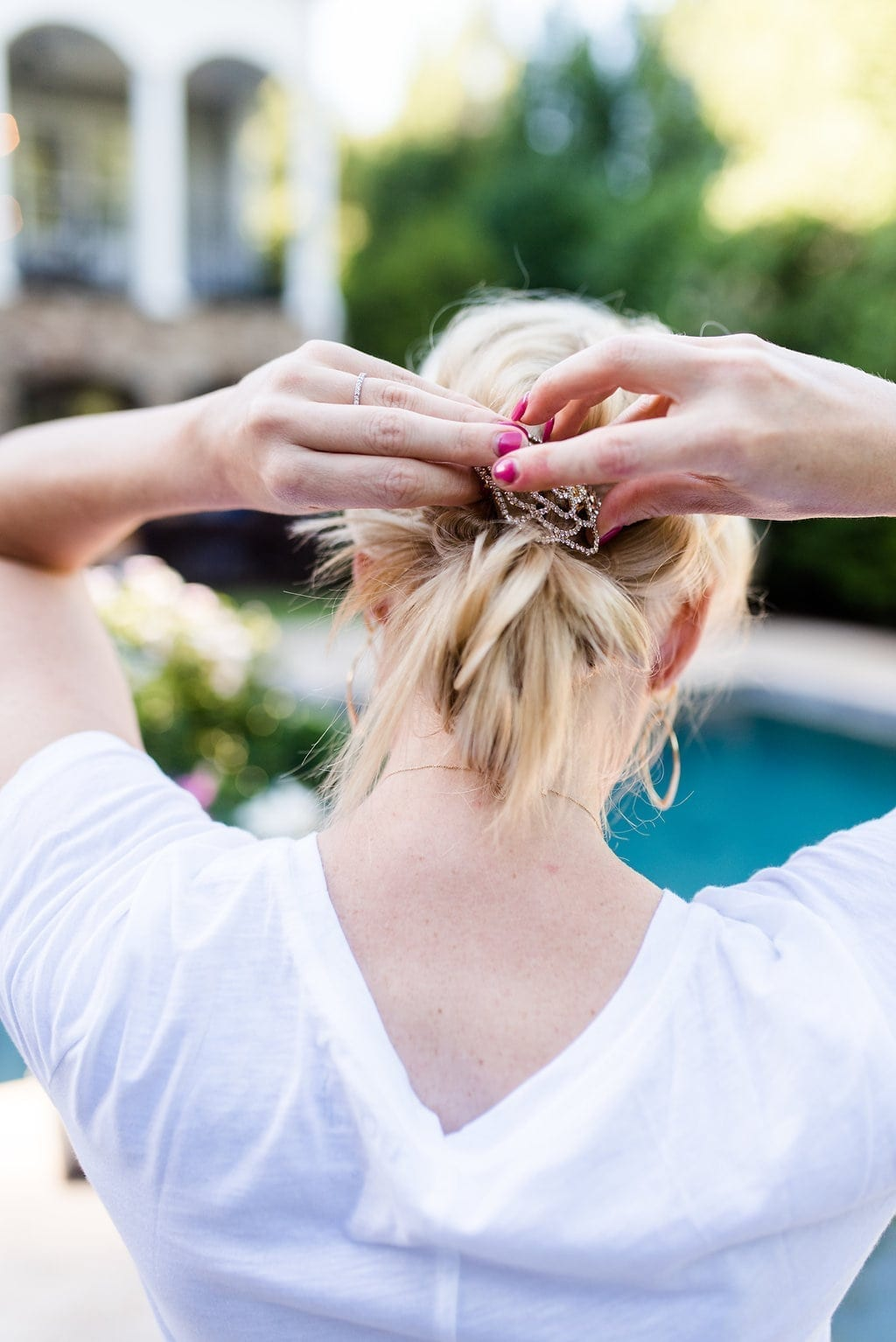 How to style big braids to the side.