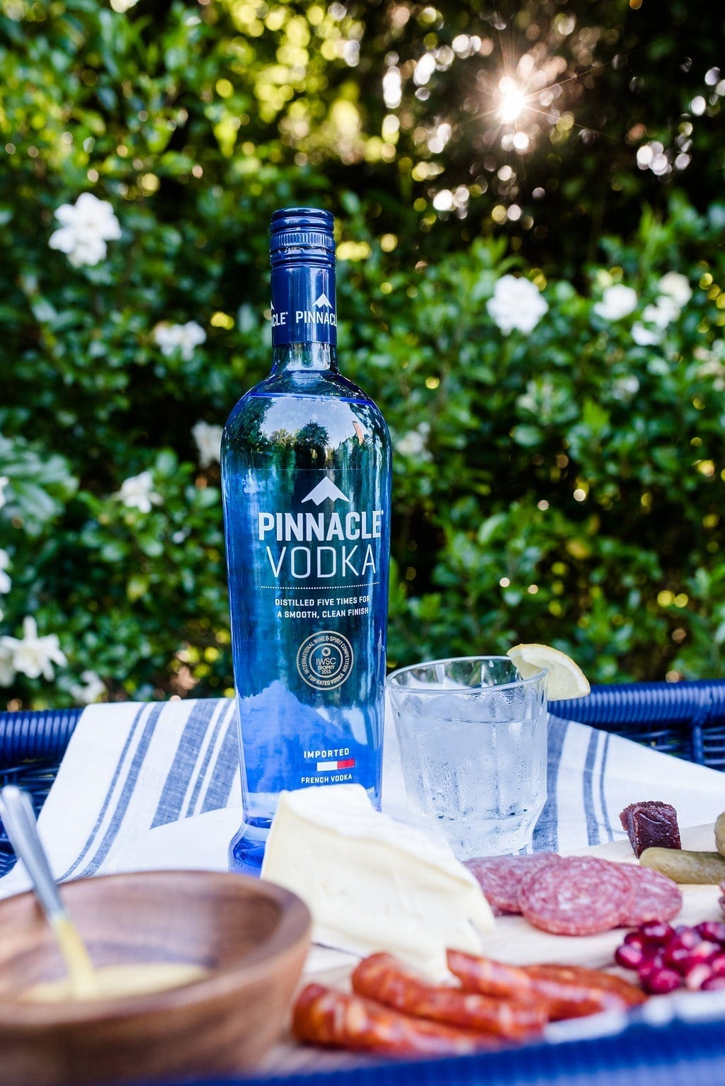 Review of Pinnacle Vodka. French Vodka and party tips for garden party.