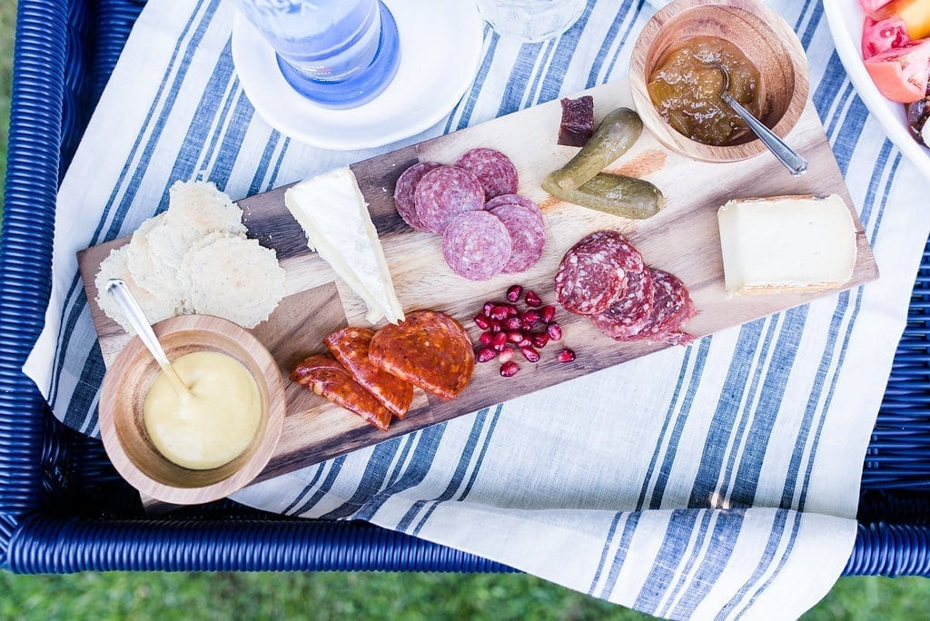 How to make a Charcuterie Plate. Easy appetizer for large group.