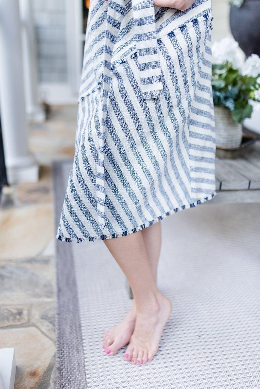 Asymmetrical dress from Banana Republic.