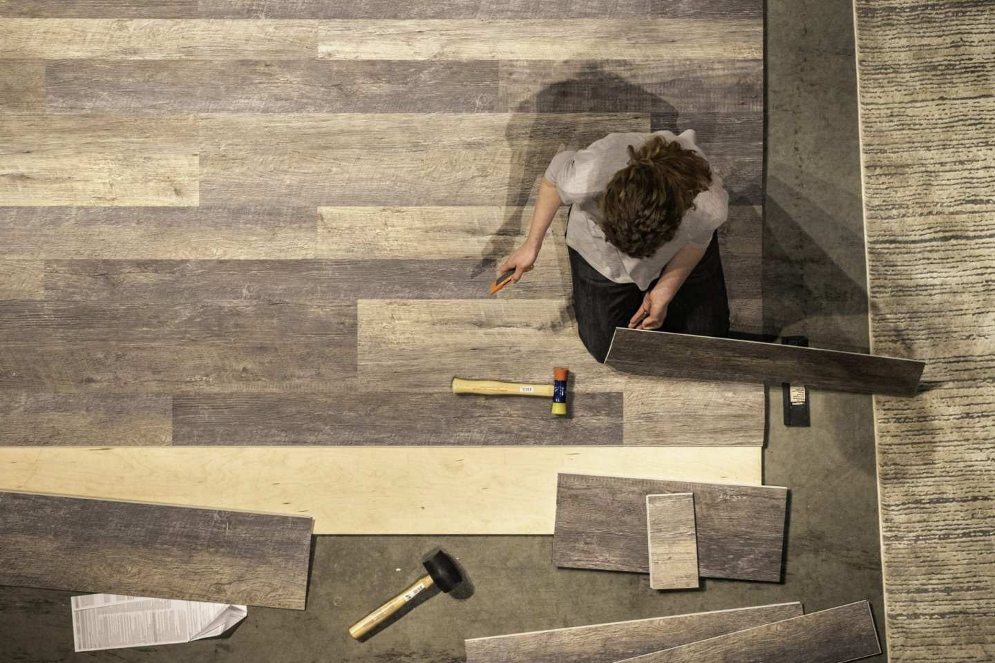 Tips for vinyl flooring that looks like hardwood and how install flooring yourself.