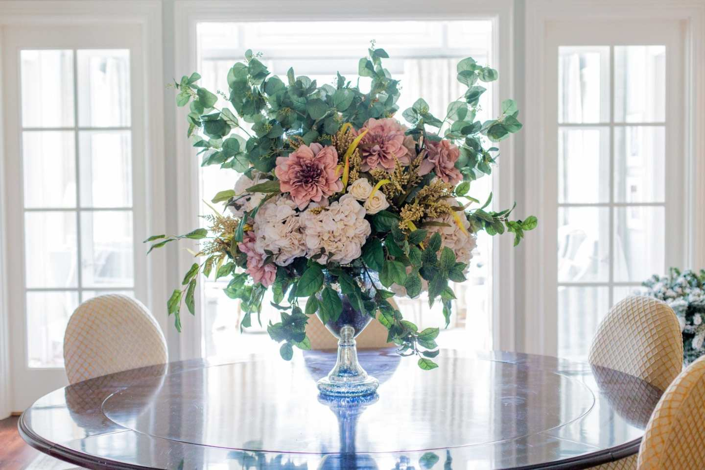 How to make large silk flower arrangements.