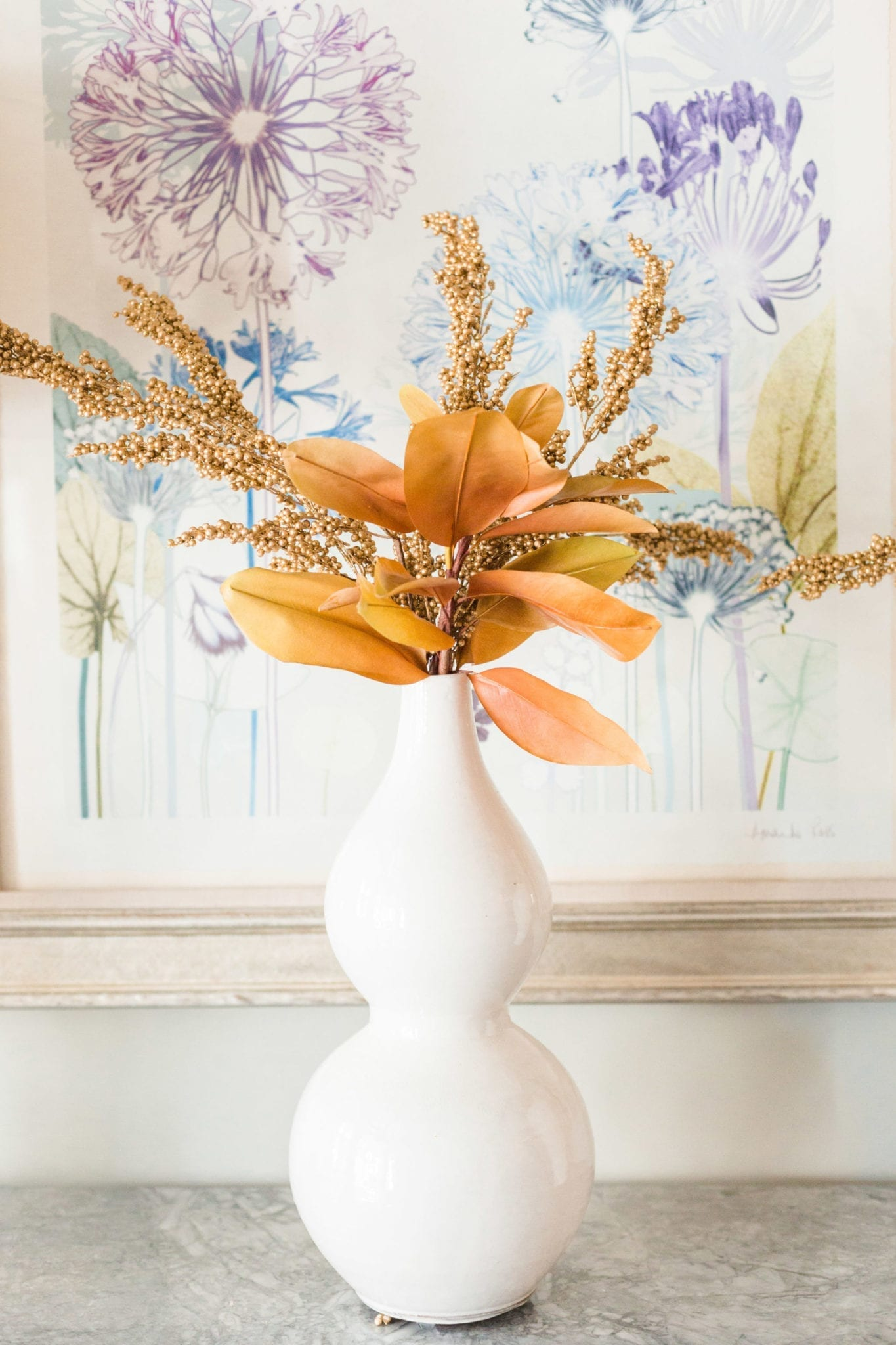 Fake Fall Flowers for autumn decorations around the house.