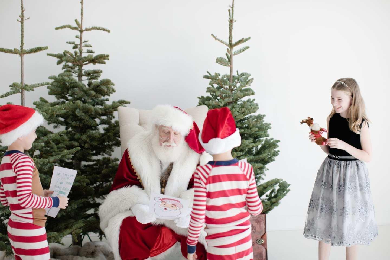 Atlanta Christmas Photos with Hanna Andersson Pajamas and dress from Monsoon Atlanta.