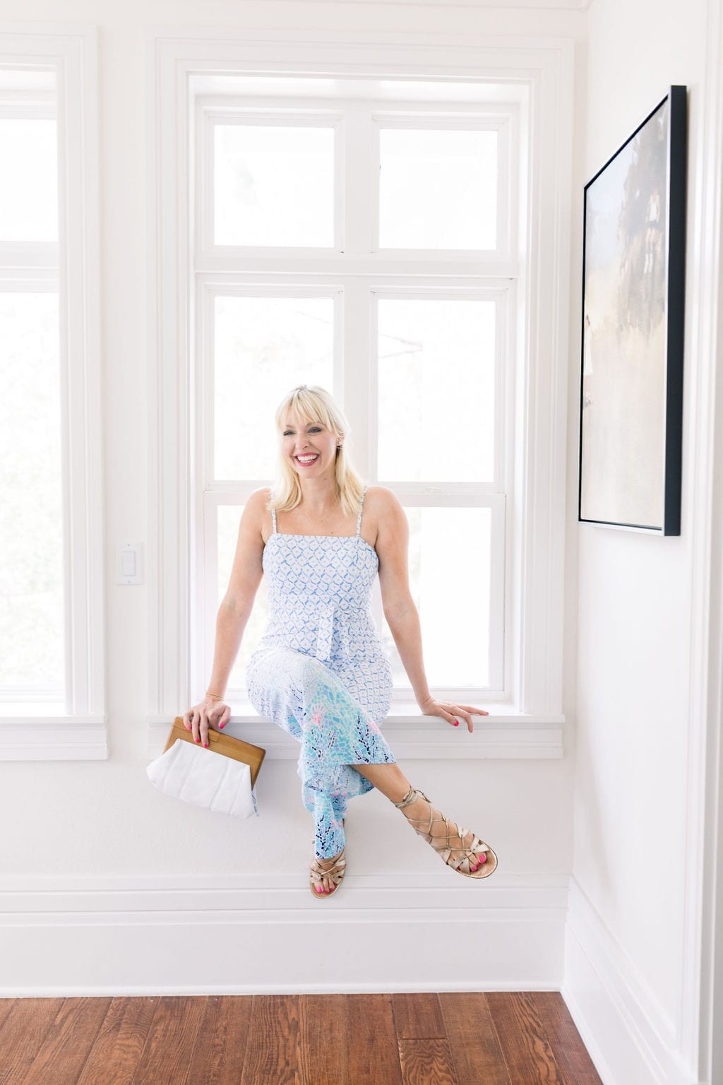 Lilly Pulitzer Sandra Jumpsuit. Fits true to size. Beautiful jumpsuit for summer.