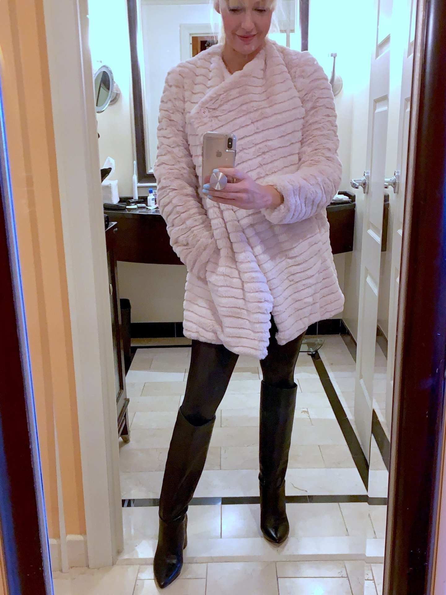 Fall Coats Nordstrom. Pink fluffy coat for winter. Nordstrom Anniversary sale outfits.