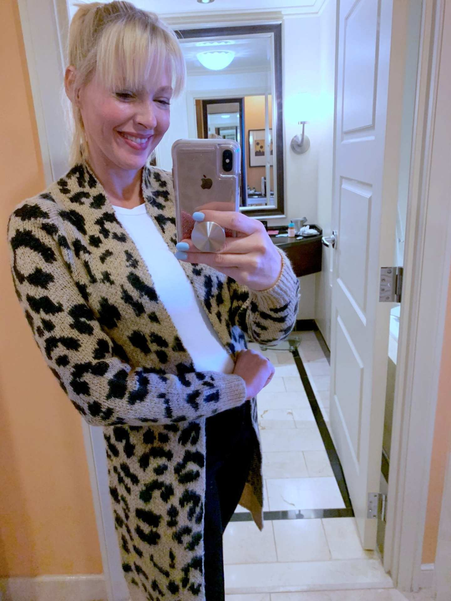 How to wear leopard for fall. Casual cardigan on sale.
