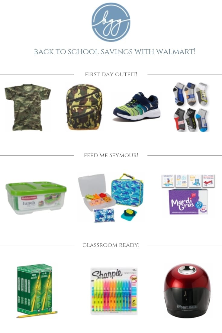 Online shopping for back to school supplies. Sales on Camo clothes for kids, lunch boxes on sale, or school supply lists that you have to have discounted.