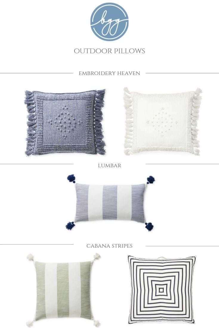 Outdoor Throw Pillows on sale from Serena and Lilly.