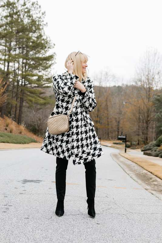womens houndstooth jacket