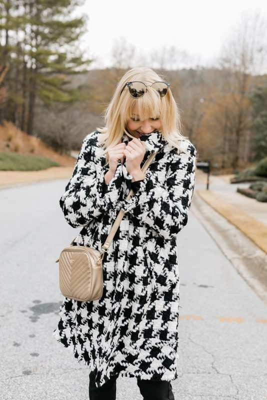 Alice and Olivia Coat - this is the coat that's a bestselling Alice and Olivia must have! I sized down. Alabama fans who love houndstooth, get this before it sells out!