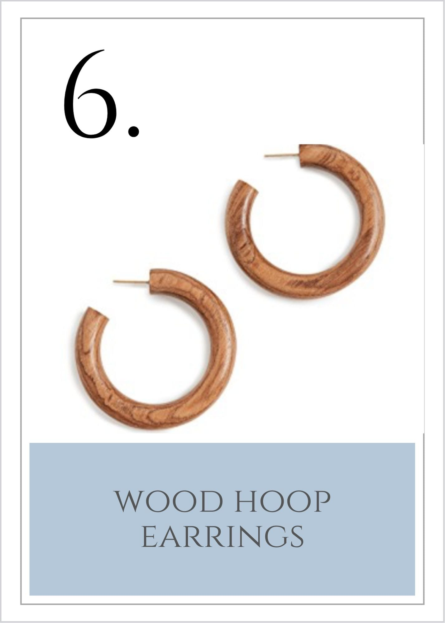 Wood Hoops from Shopbop. Pretty summer earrings.