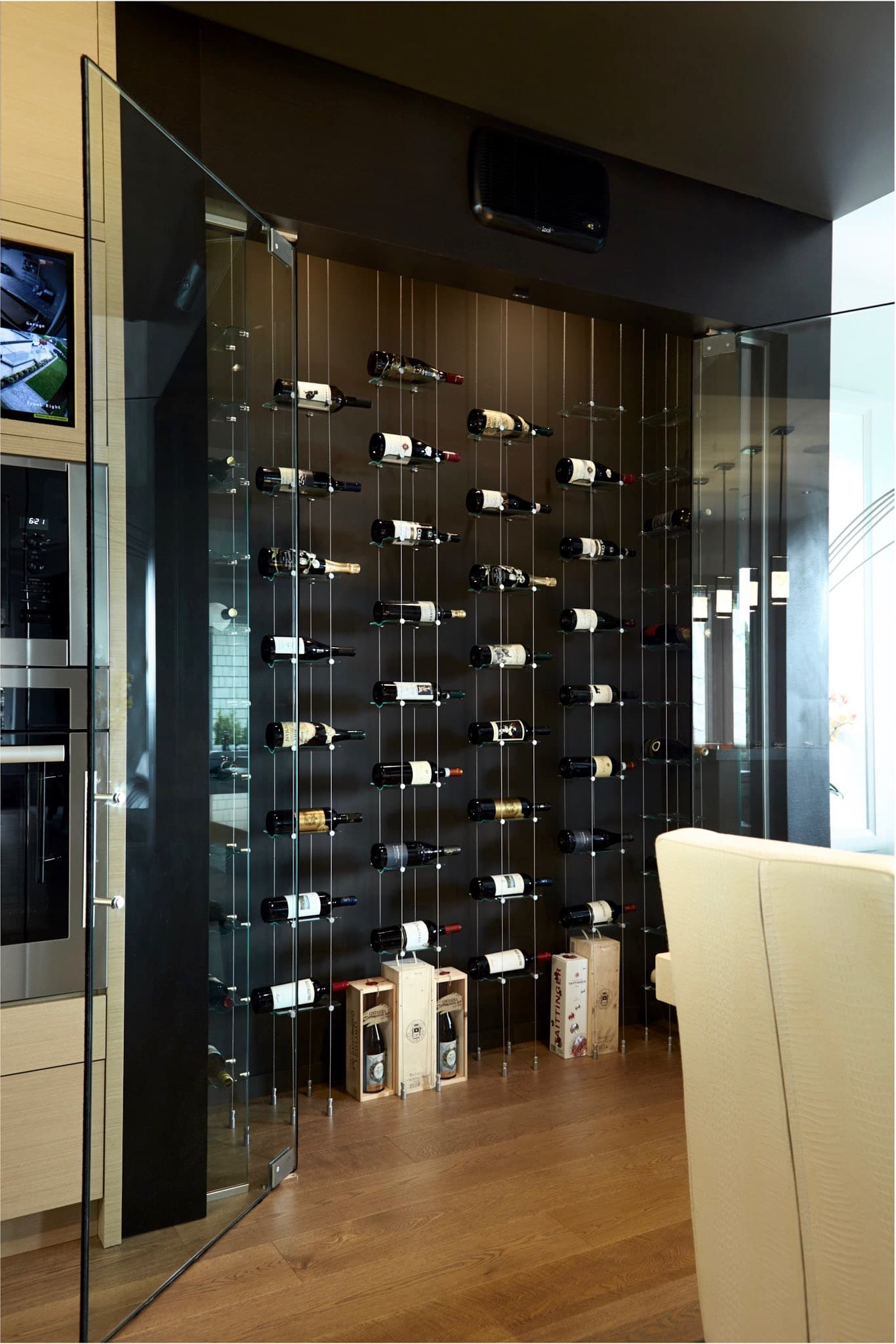 Modern Cable Floating WINE RACKS Wow Guests In