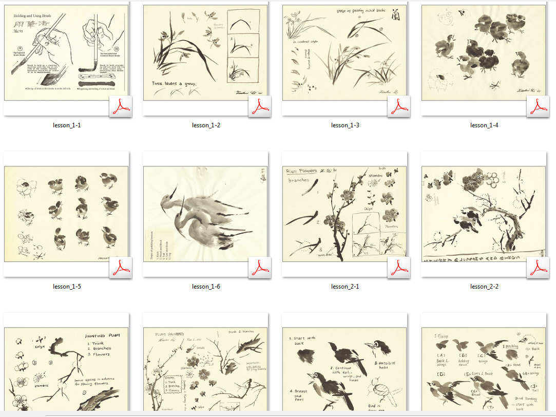 Henry Li S Chinese Painting Class Handouts Lesson 1 7