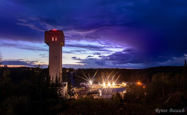 Pure Gold Mining Site at Night by Renee Bausch