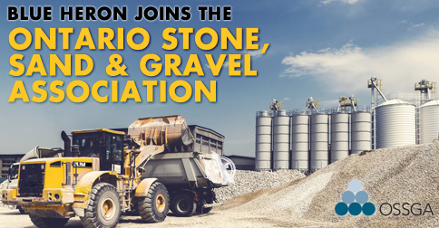 We joined the Ontario Stone, Sand and Gravel Association