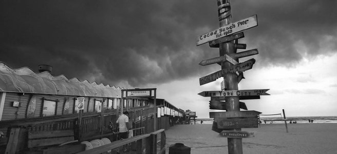Storm over Cocoa Beach Pier, Cocoa Beach, Florida (2015)