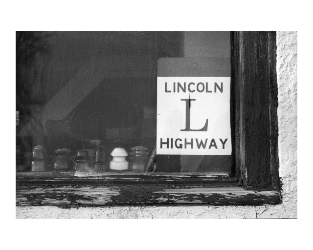 Lincoln Highway designation sign, Medicine Bow, Wyoming (2016)
