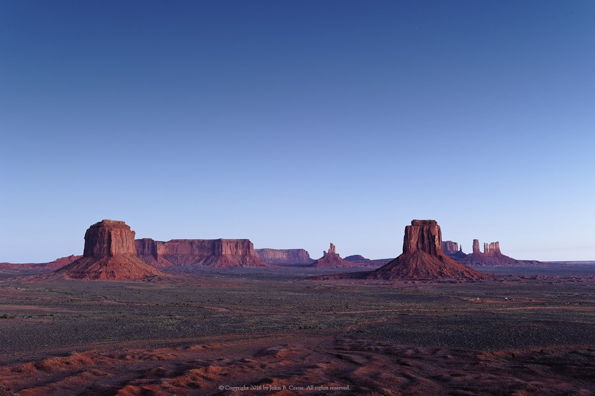 Blue Hour, Artist's Point, Monument Valley, Utah