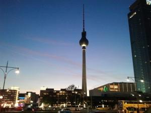Berlin's Fernsehturm (TV Tower).