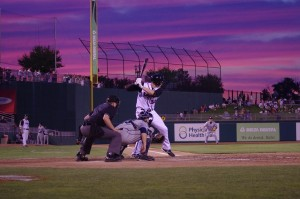 Jordan Leyland against a gorgeous sky in Lansing