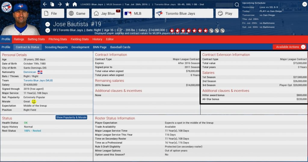Jose Bautista signs