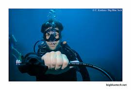 tech diving skill. S drill by tech diver.