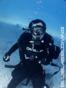 tdi tech diver doing skills
