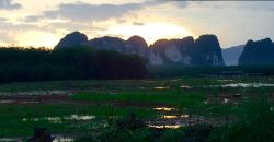 Karst mountains line the horizon in Krabi. Underground, they house a technical diver's secret